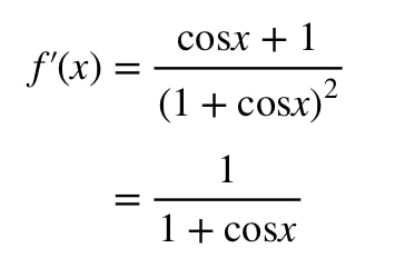 Equation 8: Derivative slope of function pt.9