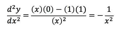 Equation 8: Second Derivative of lnx pt.1