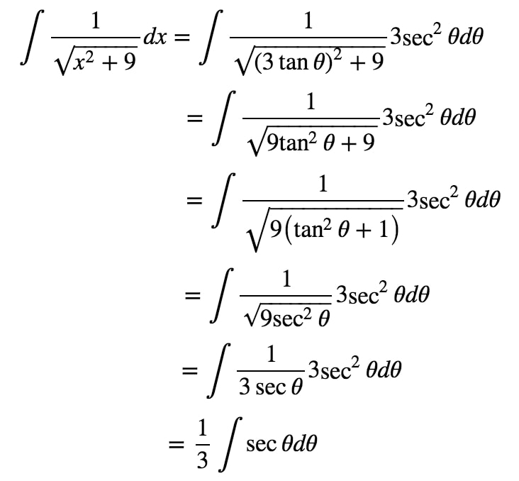 Equation 8: Trig Substitution with 3tan pt.4