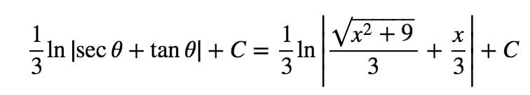 Equation 8: Trig Substitution with 3tan pt.8