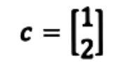 Equation 8: Vector c