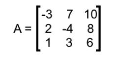 Equation 9: Matrix A