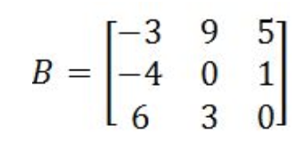 Equation 9: Matrix B