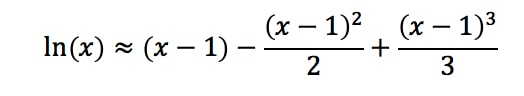 Equation 9: Taylor Series Polynomial lnx pt.6