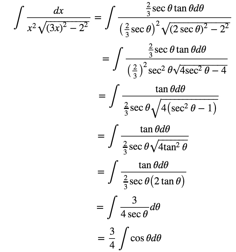 Equation 9: Trig Substitution with 2/3sec pt.5
