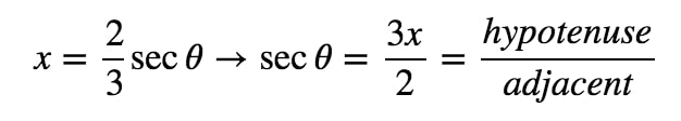 Equation 9: Trig Substitution with 2/3sec pt.7