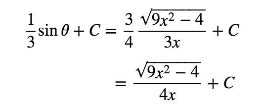 Equation 9: Trig Substitution with 2/3sec pt.9