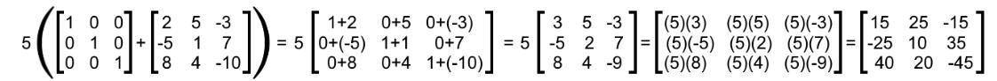 Equation 9: Verifying the distributive property (part 1)
