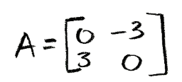 Equation for example 2: Matrix A