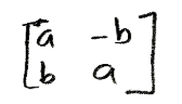 Equation for example 3: Matrix form