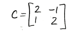 Equation for example 3(c): Matrix C