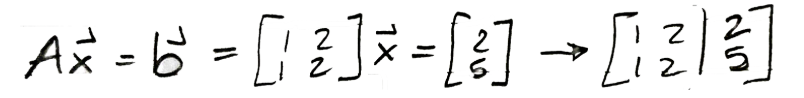 Equation :Solving for vector x