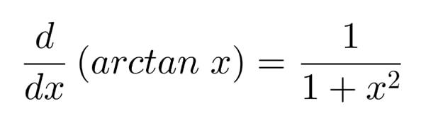 Figure 1: Derivative of arctan