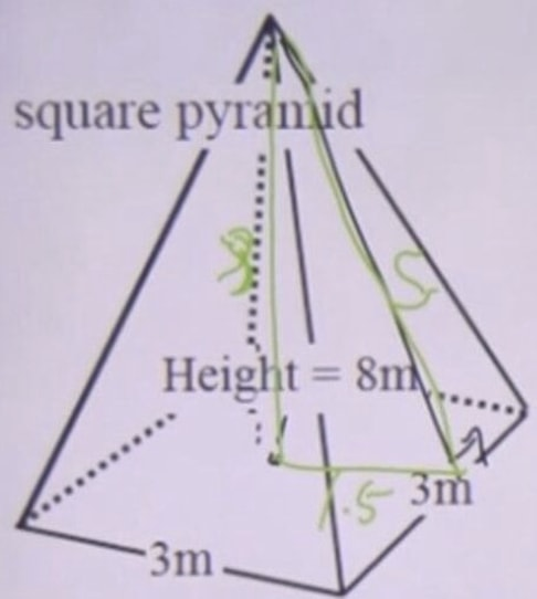 Look for the height using pythagorean theorem