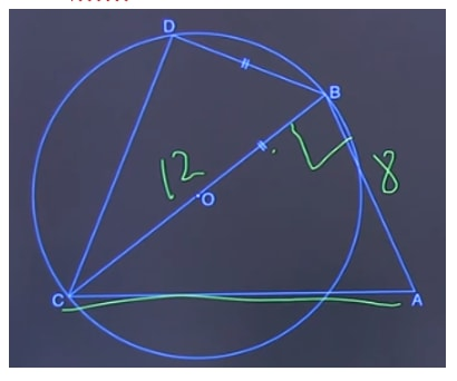 Find the length of diameter and BC