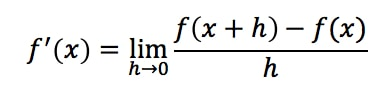 Formula 1: Definition of Derivative