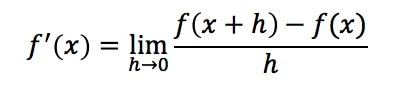 Formula 2: Definition of Derivative