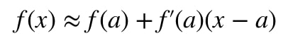 Formula 2: Linear approximation