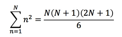 Formula 3: Power sum n^2