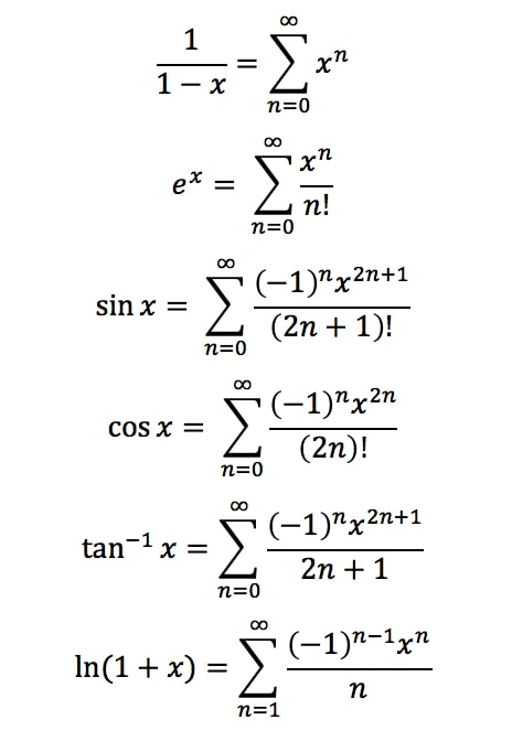Formula 5: Common Taylor Series