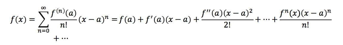 Formula 6: Taylor Series Expansion