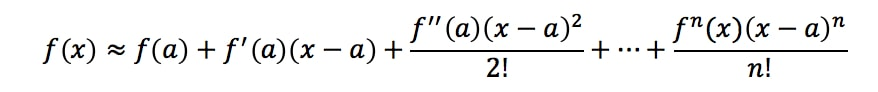 Formula 7: Taylor Series Approximation