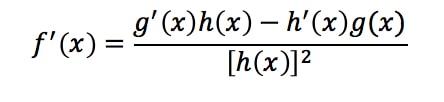 Formula 8: Quotient Rule