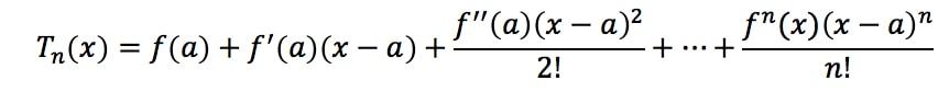 Formula 8: Taylor Series Polynomial