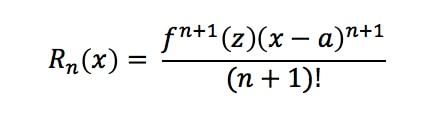Formula 9: Taylor Series Error Term