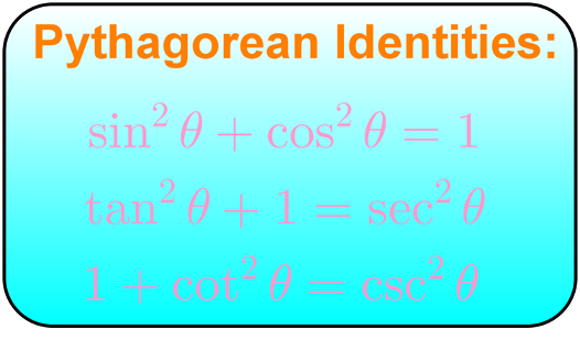 Pythagorean identities