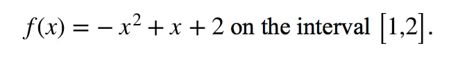 Question 1: Mean Value Theorem Derivative pt.1