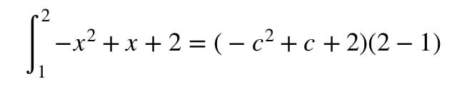 Question 2: Mean Value Theorem Integral pt.4