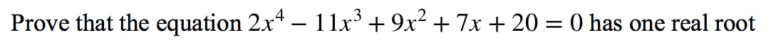 Question 3: Intermediate Value Theorem