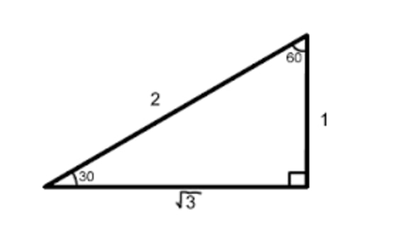 Special triangle of sqrt3 over 2