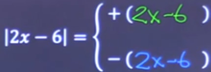Two expression of an absolute value of function